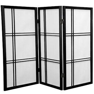 Oriental Furniture 3 ft. Tall Double Cross Shoji Screen