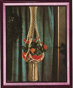 macrame plant hanger pattern books beaded plant hanger pattern craft book mp1 5279