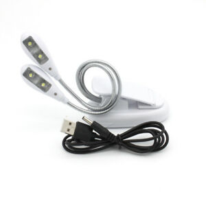 Light-dimmer LED Flexible Read Light Clip-on Bed Table Desk Lamp + USB Cable New