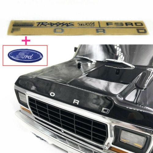 RC Car Part FORD Metal Emblem Head Logo For 1//10 TRAXXAS TRX-4 TRX4 Ford bronco