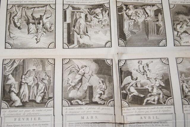 ANCIEN CALENDRIER POUR L'ANNEE 1805 GRAVURES NAPOLEON EMPIRE
