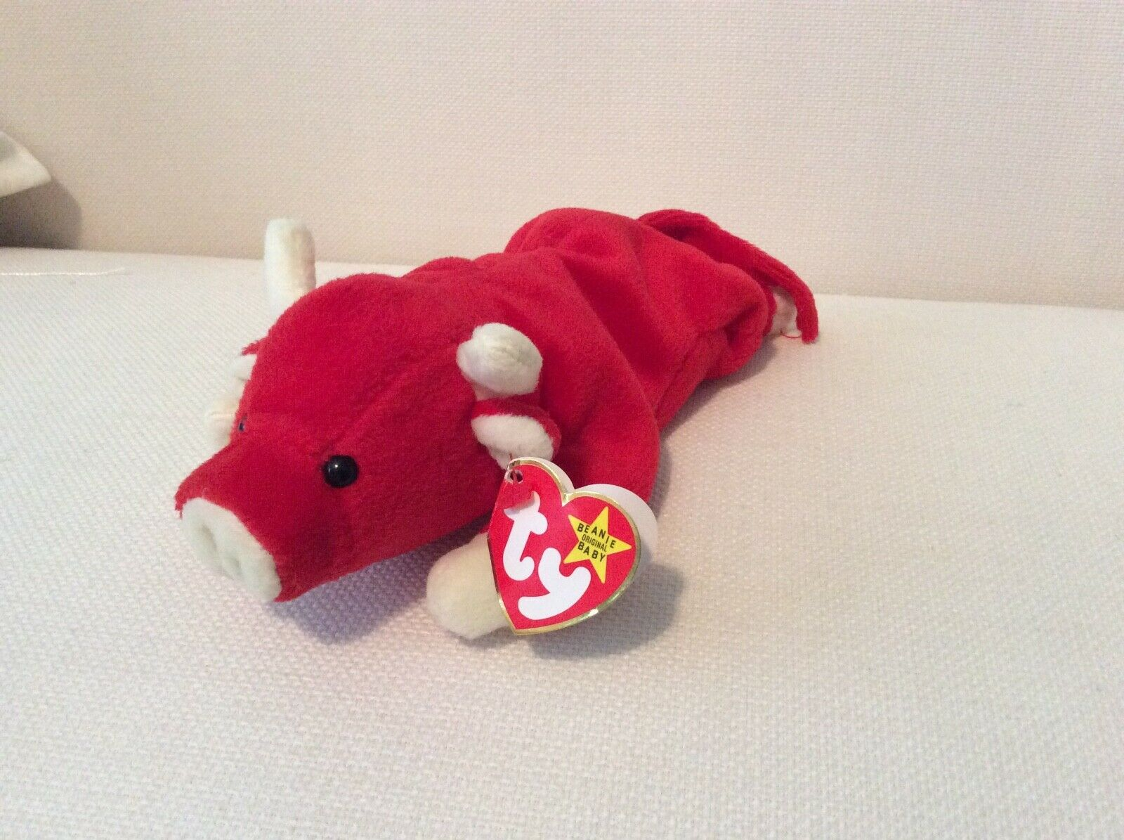 Ty Beanie Baby Rare Snort 4th Generation 1995 collectible, ODDITY