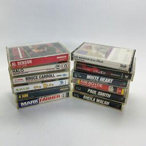 Lot of 12 Christian Rock Inspirational Gospel Various Artists Cassette Tapes