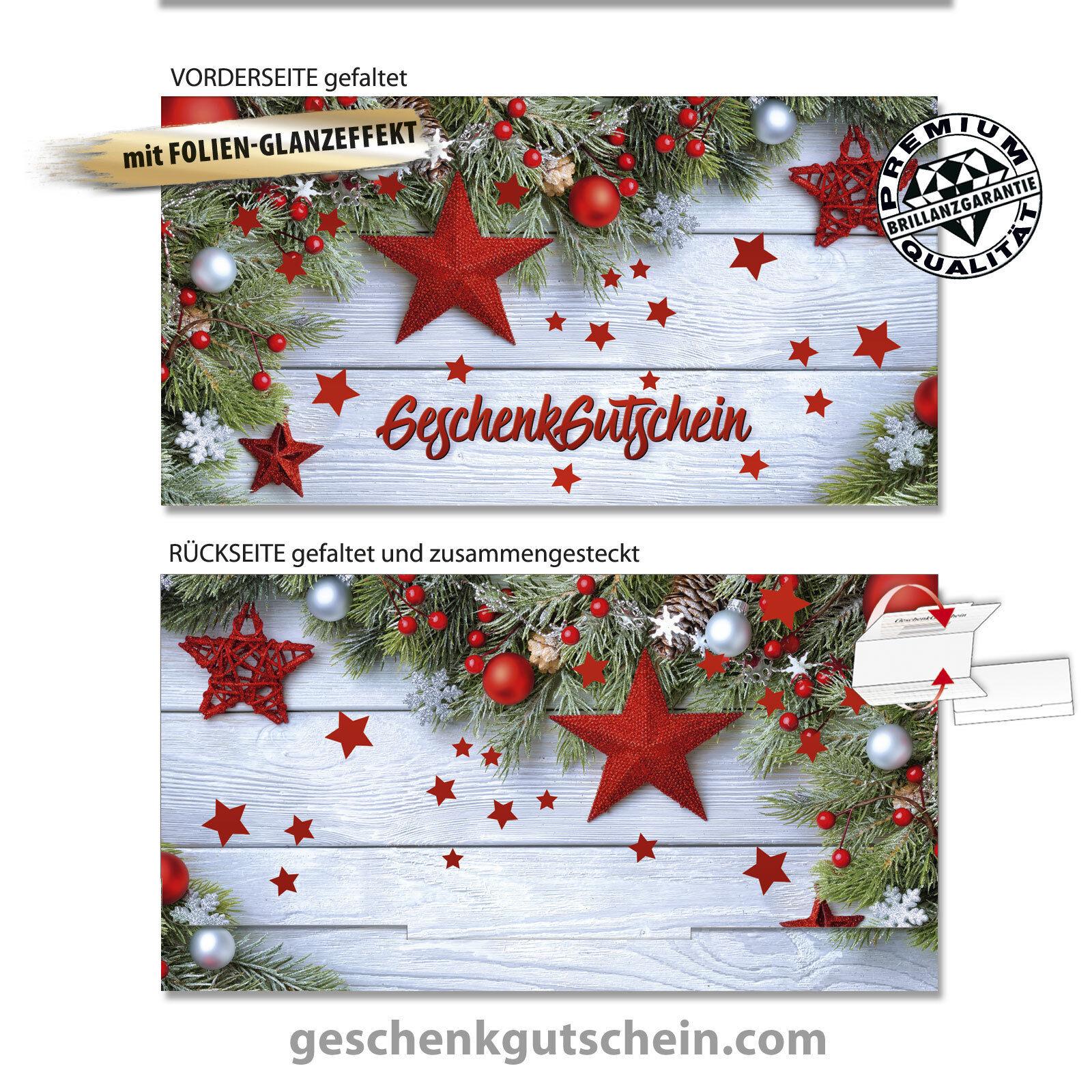 Weißnachts-Geschenkgutscheine  Glamour-Edition  für alle Branchen X291FG