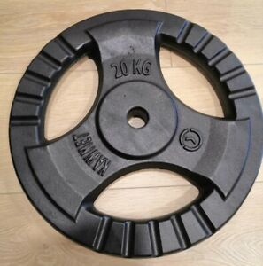 Free-delivery-20-kg-TRI-GRIP-Cast-Iron-Disc-Weight-Plate-brand-new
