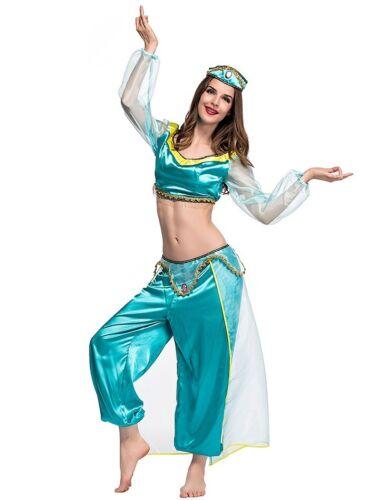 Women Teen Halloween Aladdin Princess Jasmine Cosplay Costume Outfit  ZG9