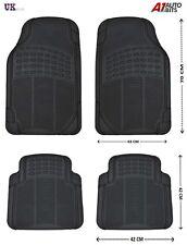 BLACK RUBBER MATS SET NON SLIP GRIP FOR HONDA CIVIC LEGEND ACCORD C-RV