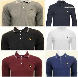 Lyle-Y-Scott-Mangas-Largas-Camisa-Polo-Para-Hombres