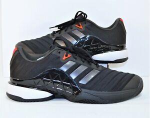 Black \u0026 White Clay Tennis Shoes Sz 14