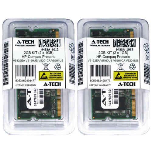 2GB KIT 2 x 1GB HP Compaq Presario V5132EA V5160US V5201CA V5201US Ram Memory