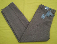 Steve Harvey 38 X 34 Brown Plaid/check Dress Slack Wool Blend Pants