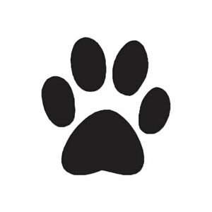 Eight Dog Paw Prints ebn216 Multiple Color /& Sizes Vinyl Decal Sticker