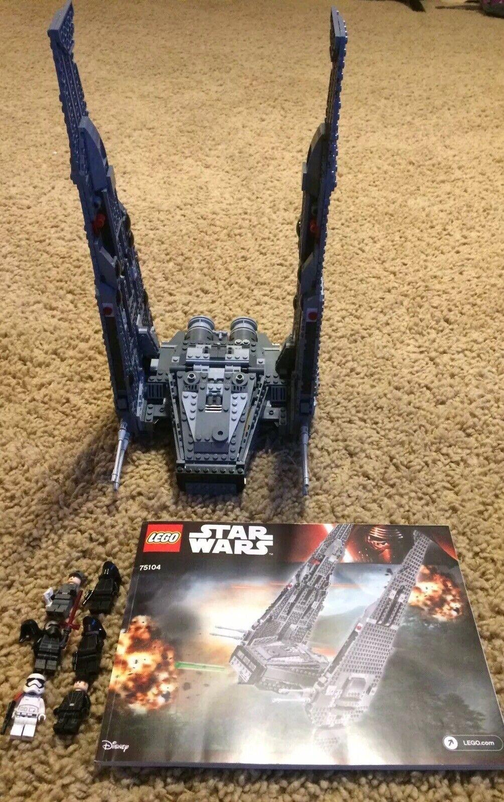 Lego 75104 Star Wars Kylo Ren's Command Shuttle Manual Minifigs 100% Set W BOX