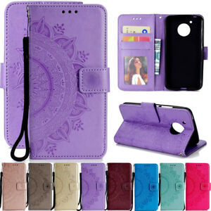 For-Motorola-G5-G6-E4-E5-Plus-Magnetic-Flip-Stand-Card-Wallet-Leather-Case-Cover