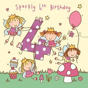 4 Year Old Card Age 4 Card 4th Birthday Card For Girl Girl Age 4