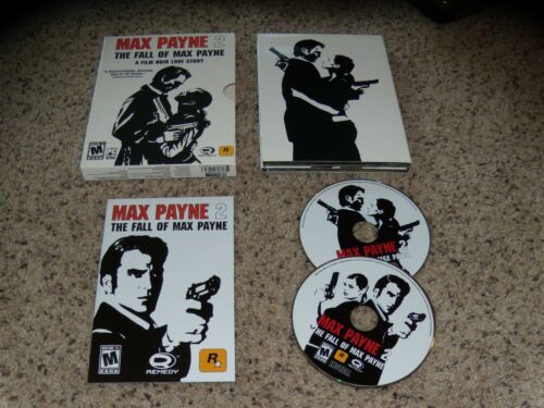 Max Payne 2 The Fall of Max Payne A Film Noir Love Story PC Game Near Mint