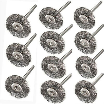 10Pcs Rotary Polish Tools Steel Wire Wheel Brushes Cup Rust Accessories