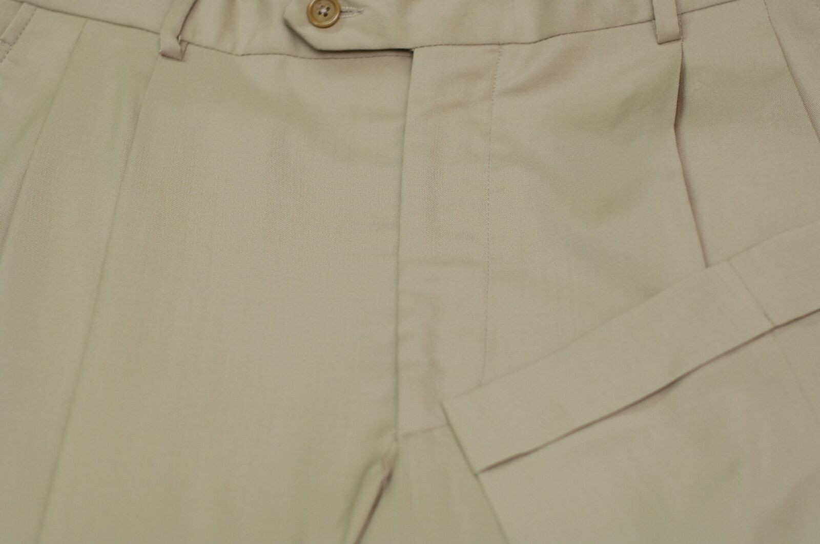 Sullivan Ryan Men's British Tan Made In  Wool Dress Pants 34 x 30