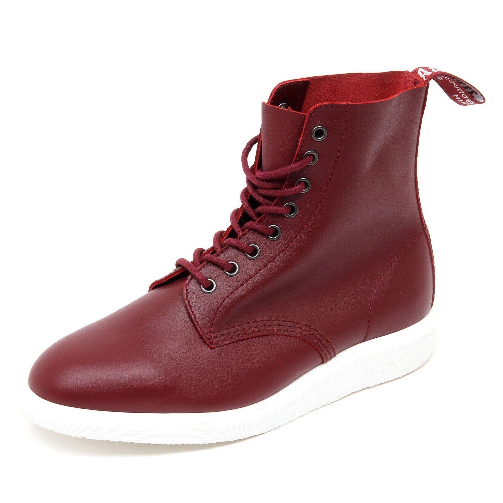 D3128 sneaker anfibio hombre DR. MARTENS WHITON anfibio sneaker rosso scuro Zapatos hombre 13087e
