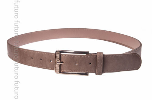 Belt Faux Leather With Metal Golden Buckle Ladies Waistband Sizes 8-14 SB699