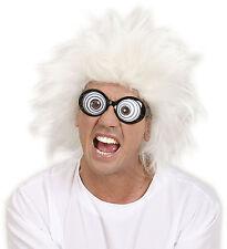LUNATICO Parrucca Crazy SCIENTIST MAD PROFESSOR adulto gadget crazy
