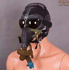 Original Soviet Mig pilot helmet Russian Air Force Aviator SHZ +  oxygen mask
