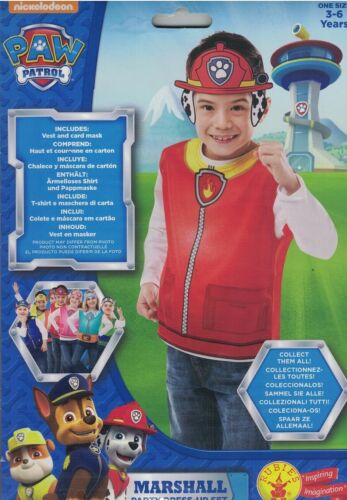 Paw Patrol Marshall costume robe Set Kids Fancy Dress 3-6 Party World Book day