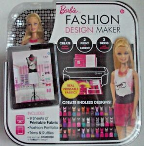 Barbie Fashion Design Maker Doll With Printable Fabric 6 Mattel Girls New Ebay