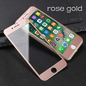 wholesale dealer 53b13 1f3c3 Details about Rose Gold 5D Tempered Glass Mobile Screen Protector Cover  iPhone 6 6s 7 8 & Plus
