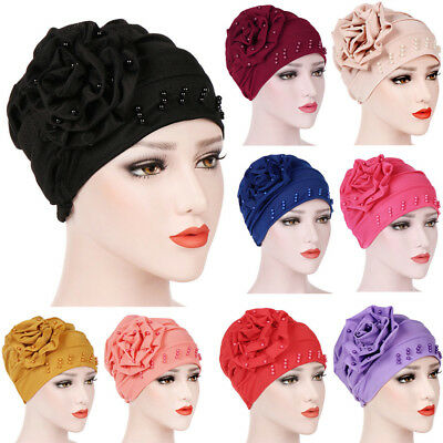 Tiean Fashion Women Warm Cotton India Ski Hat Boho Braided Turban Headdress Cap Purple