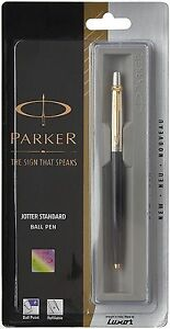 4xPARKER-JOTTER-GT-BALL-POINT-PEN-BLACK-BLUE-INK-WITH-FREE-WORLDWIDE-SHIPPING