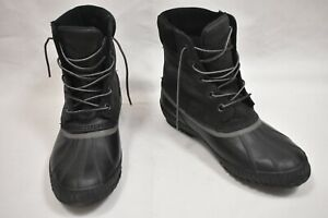 Sorel-Cheyanne-II-Men-039-s-10D-Black-Duck-Boots-Insulated-Waterproof-Leather-Rubber