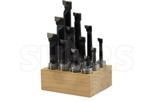 "12 Pcs Set 5//8/"" Boring Bar Carbide Tipped Bars 5//8/"" Shank Lathe Tool NEW"