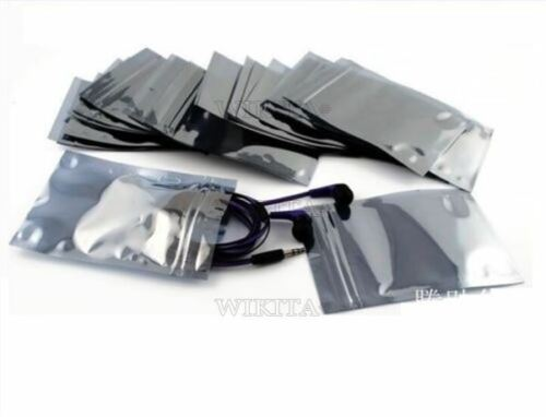 20Pcs 50X90MM 40X70MM ESD Anti-statique blindage zip lock bags Usable Taille Nouveau IC