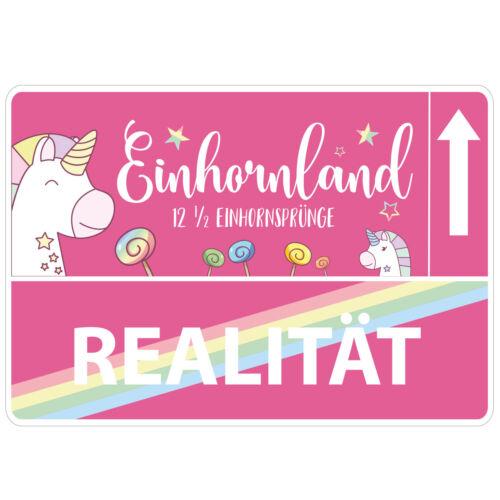 "Wandkings guide autocollant /""einhornland/"" Mur Sticker Deco Sticker"