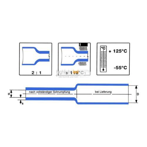 1,50 €//m isolierschlauch 2m schrumpfschlauch Ø 4mm-ideal para LEDs