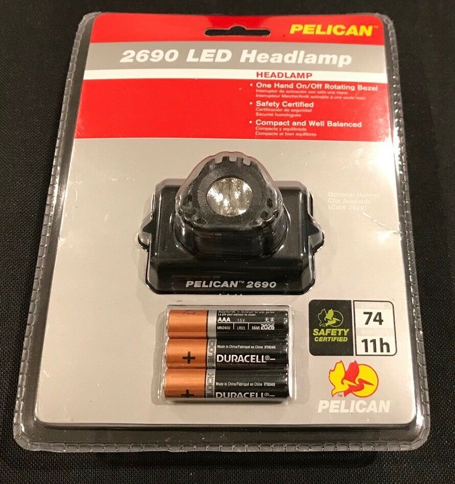 Pelican 2690 Heads Up Lite LED Headlamp Headtorch Light Torch