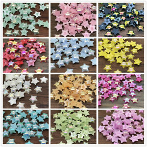 NEW DIY 6mm 200pcs smooth Resin Star Flat back Scrapbooking Craft beads Beige