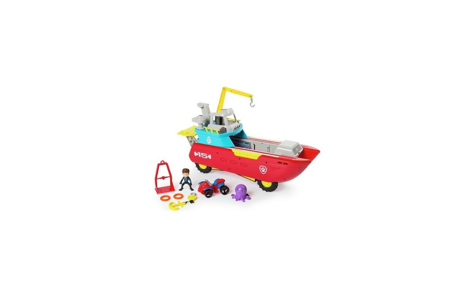 Paw Patrol Sea Patroller con personaggio