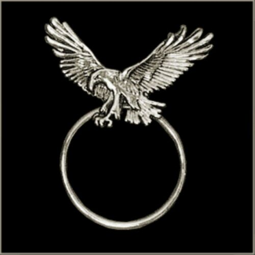 Landing Eagle Spread Wings Sunglasses Holder Biker Pin Made in the USA