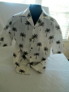 Pacific-Legend-Men-039-s-Size-Large-Hawaiian-Shirt-Palm-Trees-Made-In-Hawaii-USA