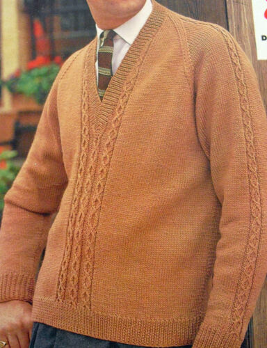 VINTAGE KNITTING PATTERNS MEN/'S A CHOICE OF 30 DESIGNS