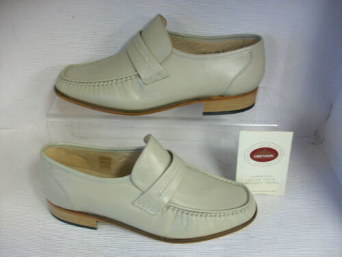 MENS GRENSON WATFORD IVORY LEATHER MOCCASIN FITTING G