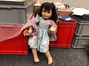 Künstlerpuppe Porzellan Puppe 73 Cm Art Dolls-ooak Top Zustand