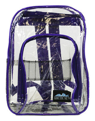 822aa3c19db7 Clear Backpack Large Heavy Duty Purse School Kids Transparent ...