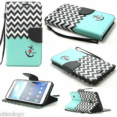 For Samsung Galaxy S7/S6 edge + Hot Flip Leather Pattern Wallet Strap Case Cover