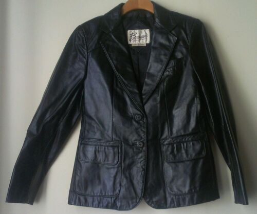 Giacca pelle 12 nera Berman in Donna vintage S06qxTOw0