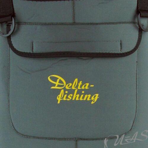 Delta Fishing 5mm Neoprene Wathose Ultra Flex Gr.42 Profilsohle Teich Hose Kva