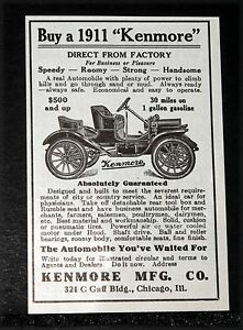 Car Factory Direct >> Details About 1910 Old Magazine Print Ad Buy 1911 Kenmore Runabout Automobile Factory Direct