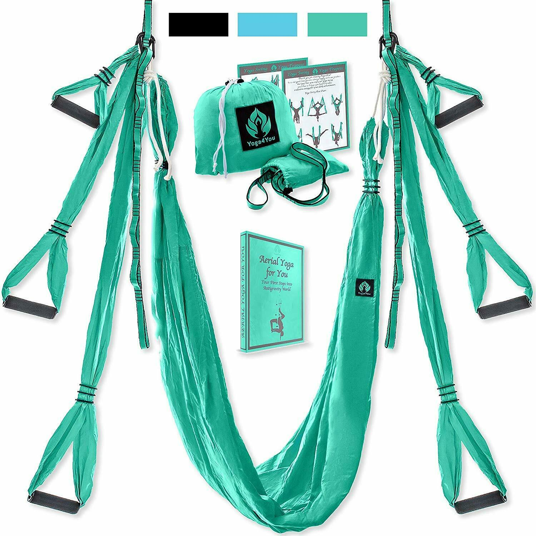 Aerial Yoga Swing Set Columpio Trapecio Completo Kit verdeical Acrobat Anti-Gravity